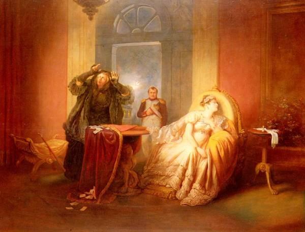 Napoleon Et Josephine Avec La Cartomancienne